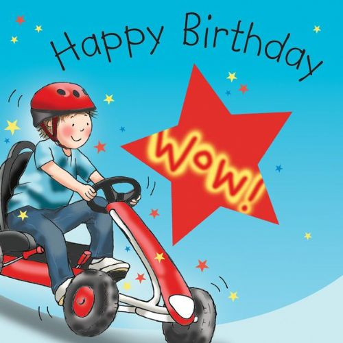TW652 - Happy Birthday Card Go Kart